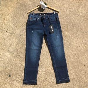 NWT Karl Lagerfeld Distressed Skinny Jeans Sz 10